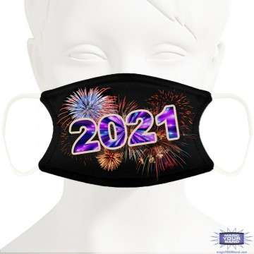 New Year 2021 Fireworks Face Mask - Personalizable