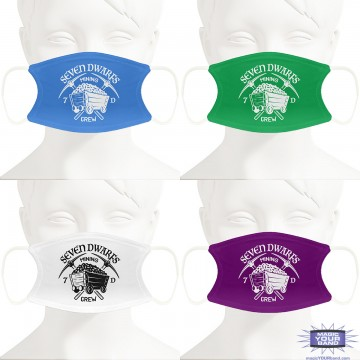 Seven Dwarfs Mining Crew Face Masks - Personalized