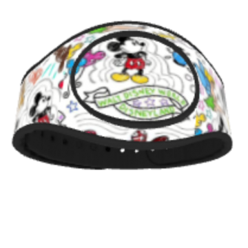 Disney Sketches MagicBand Skin Design