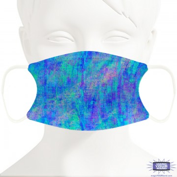 Blue Abstract Pattern Face Mask - Personalizable