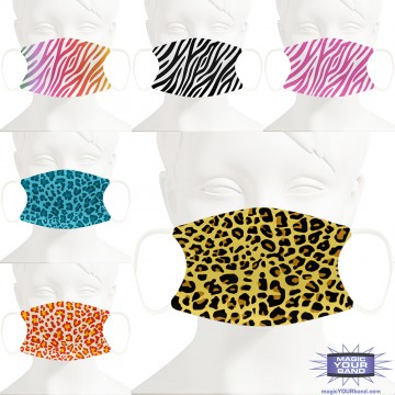 Animal Print Design Face Mask - Personalized