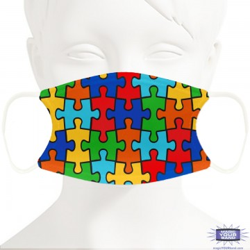 Autism Awareness Face Mask - Personalizable