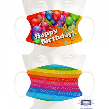 Birthday Design Face Masks - Personalized