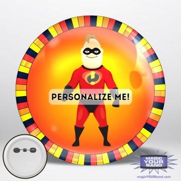 Mr Superhero Button