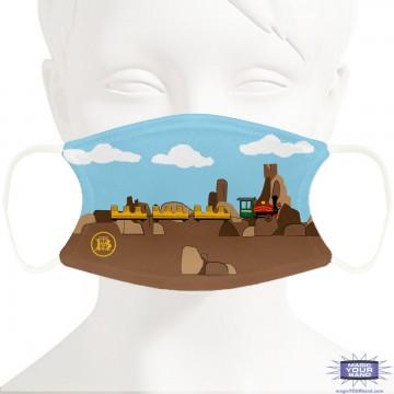 Mine Train Face Mask - Personalizable