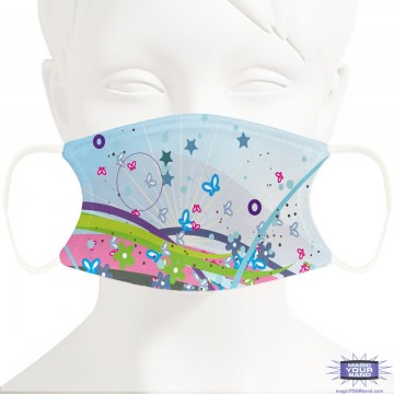 Butterflies and Flowers Face Mask - Personalizable