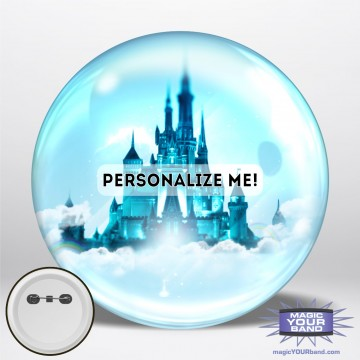 Castle Silhouette Button