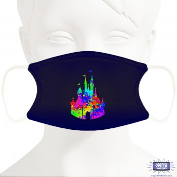 Painted Castle Design Face Mask - Personalized