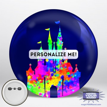 Painted Castle Button