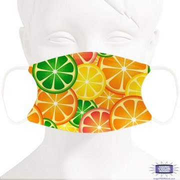 Citrus Fruit Face Mask - Personalizable