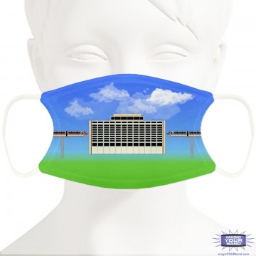 Contemporary and Monorail Design Face Mask - Personalized