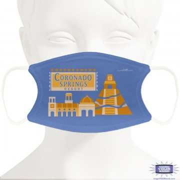 Coronado Resort Inspired Design Face Mask - Personalized