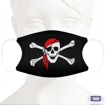 Pirate Flag Face Mask - Personalizable