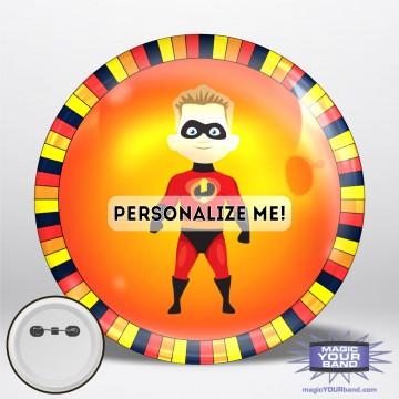 Superhero Boy Button