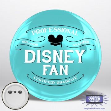 Professional Disney Fan (Teal) Personalizable Park Button