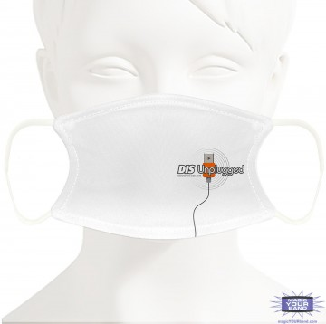 Retro DIS Unplugged Face Mask - Personalized