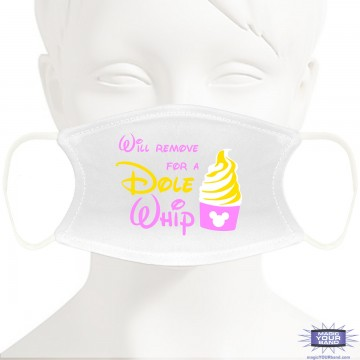 Dole Whip Face Mask - Personalizable