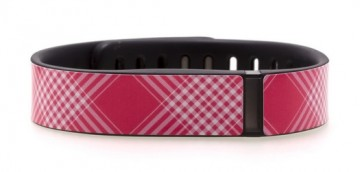 Pink & White Check Fitbit Flex Skin