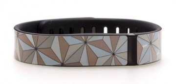Abstract Triangles Silver Fitbit Flex Skin