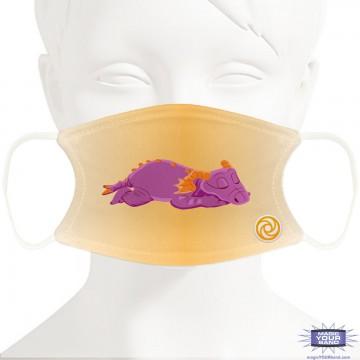 Sleeping Purple Dragon Face Mask - Personalized