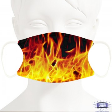 Flames Face Mask - Personalizable