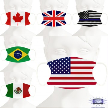 Flag Design Face Mask - Personalized