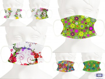 Flower Prints Face Masks - Personalized