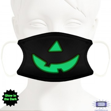 Glow In The Dark Pumpkin Face Mask