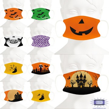 Halloween Design Face Masks - Personalized