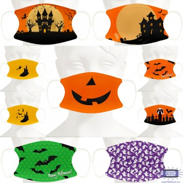 Halloween Design Face Mask - Personalized