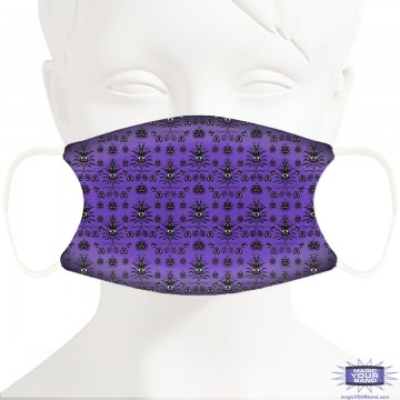Spooky Wallpaper Face Mask - Personalized