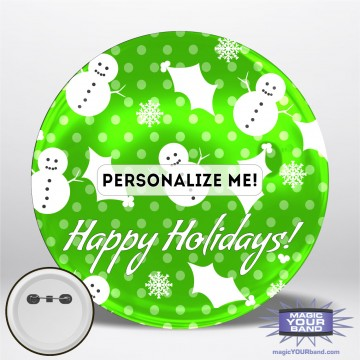 Happy Holidays (Green) Personalizable Park Button