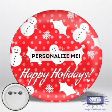 Happy Holidays (Red) Personalizable Park Button