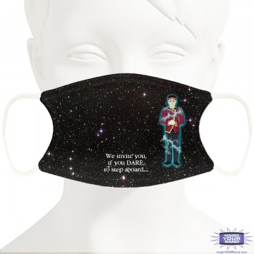 Twilight Zone Bellhop Face Mask - Personalized