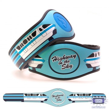 Transportation Series - Highway in the Sky Blue MagicBand 2 Skin