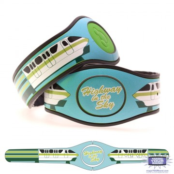 Transportation Series - Highway in the Sky Green MagicBand 2 Skin