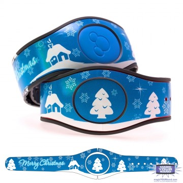Snowy Merry Christmas MagicBand 2 Skin