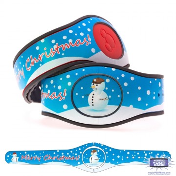 Snowman Merry Christmas MagicBand 2 Skin