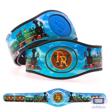 Steam Train Green MagicBand 2 Skin
