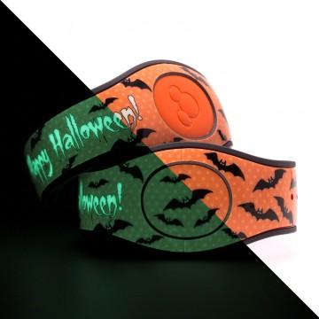 Glow in the Dark Happy Halloween (Orange) MagicBand 2 skin