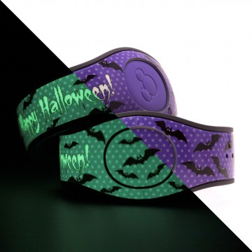 Glow in the Dark Happy Halloween (Purple) MagicBand 2 skin