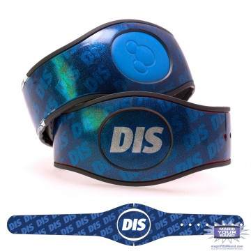 The DIS Blue Glitter MagicBand 2 Skin