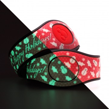 Glow in the Dark Happy Holidays (Red) MagicBand 2 Skin