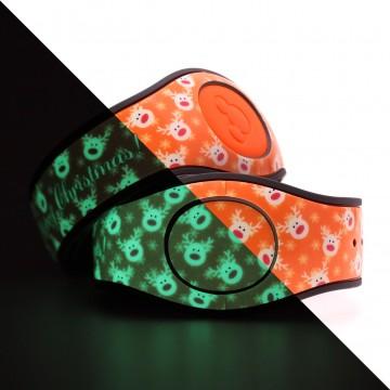Glow in the Dark Reindeer (Orange) MagicBand 2 Skin