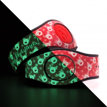 Glow in the Dark Reindeer (Red) MagicBand 2 Skin