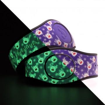 Glow in the Dark Reindeer (Purple) MagicBand 2 Skin