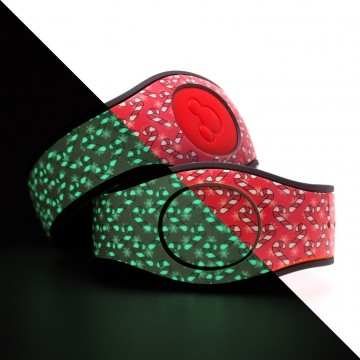 Glow in the Dark Candy Cane (Red) MagicBand 2 Skin