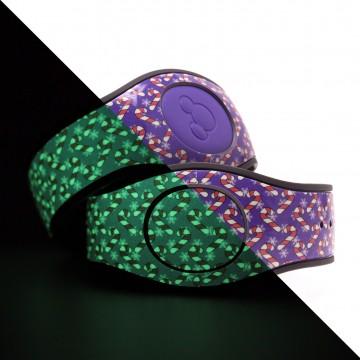 Glow in the Dark Candy Cane (Purple) MagicBand 2 Skin