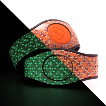 Glow in the Dark Candy Cane (Orange) MagicBand 2 Skin