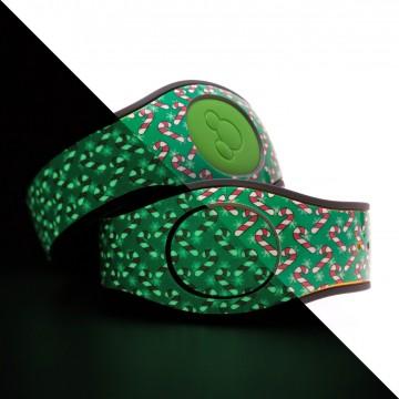 Glow in the Dark Candy Cane (Green) MagicBand 2 Skin